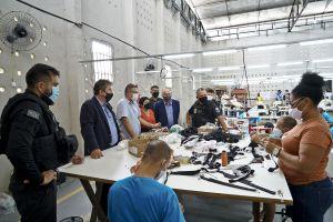 A indústria têxtil é a que tem mais empresas dentro do complexo penitenciário do Ceará