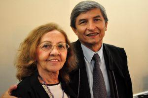 A presidente do TRT/CE, desembargadora Maria José Girão, e o presidente eleito, desembargador Plauto Carneiro Porto