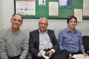 Engenheiros do TRT/CE Gustavo Gesteria, Paulo Brasileiro e Kennedy Araújo, este último responsável pela fiscalização das obras