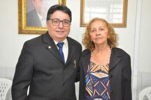 A des. Maria José Girão ao lado do represesntante da OAB, advogado Jairo Cidade