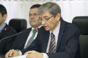 O presidente do TRT/CE, desembargador Plauto Porto, em seu pronunciamento na abertura do ato
