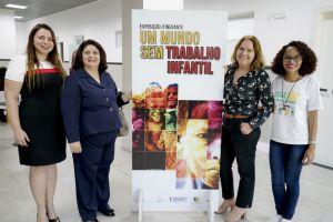 Gestoras regionais do Programa de Combate ao Trabalho Infantil com equipe da Escola de Gastronomia