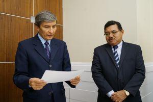 Presidente do TRT/CE, desembargador Plauto Porto, deu posse ao juiz Eliúde Oliveira como titular da 2ª VT do Cariri