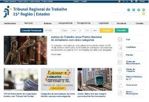 Página inicial dos sites dos TRTs também será padronizada conforme modelo