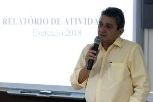 O servidor Osvaldo Severiano dos Santos apresentou o relatório de atividades realizadas em 2018