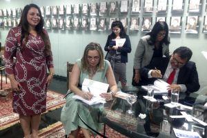 A ministra Kátia Arruda, coordenadora nacional do Programa de Combate ao Trabalho Infantil e de Estímulo à Aprendizagem da Justiça do Trabalho e uma das organizadoras do livro