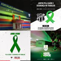 O Ceará e o Ferroviário apoiaram com publicações temáticas nas redes sociais; além disso, o Fortaleza e a FCF iluminaram de verde a fachada de suas sedes
