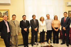O encontro aconteceu no Gabinete da Presidência